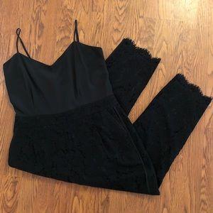 J. Crew Collection Black Leavers Lace Jumpsuit 16